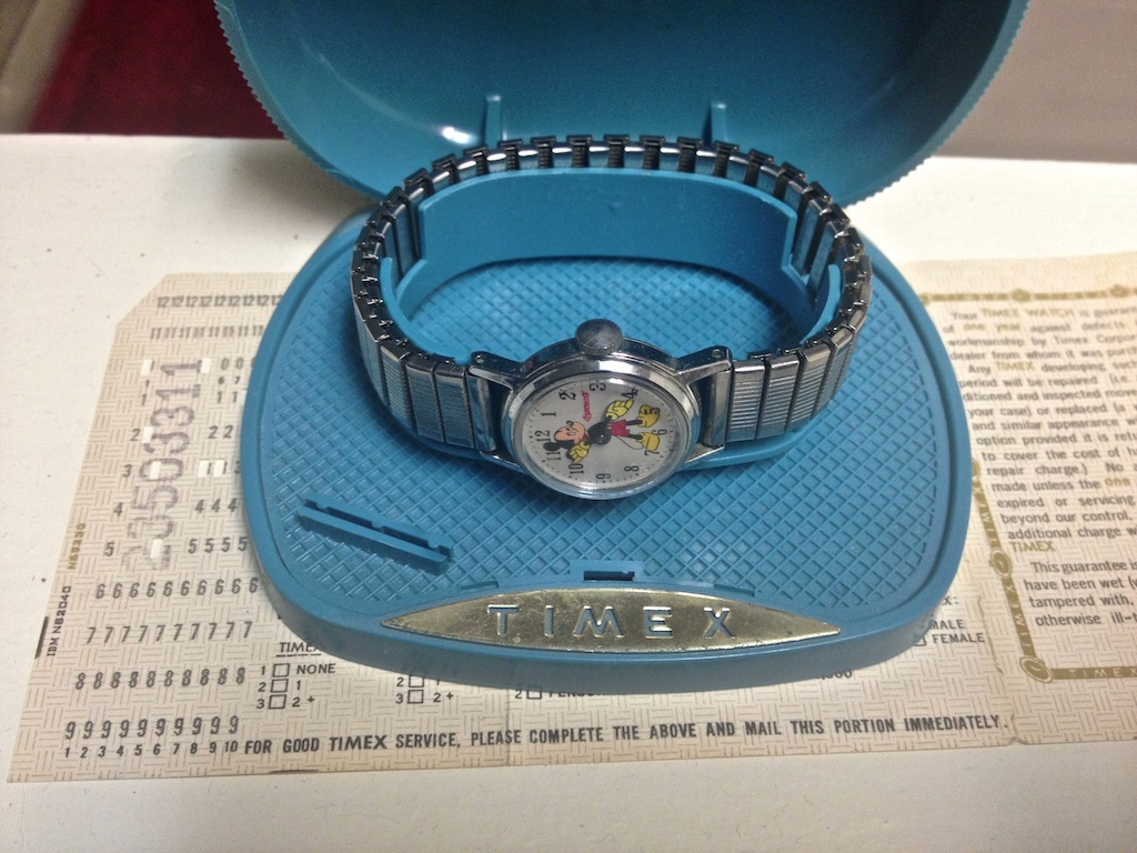 Timex/Ingersoll Mickey Mouse Manual Wind Watch