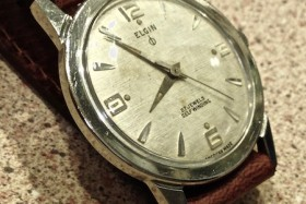 Elgin Thin Thin White Weave Dial